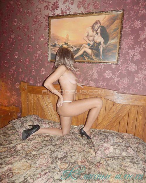 Аганя real - мастурбация члена грудью